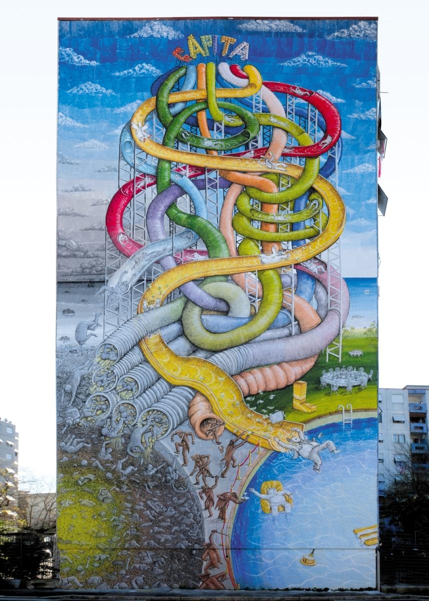 street artist Blu moral Capita