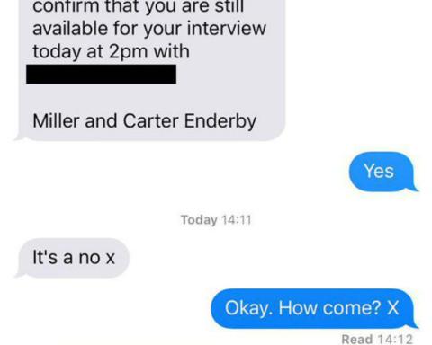 Απόρριψη από συνέντευξη 3