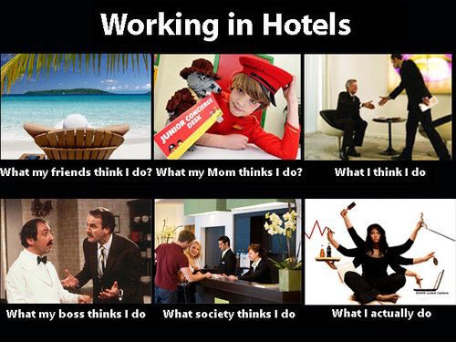 working in hotel